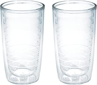 Tervis Clear & Colorful Tabletop Made in USA Double Walled Insulated Tumbler, 16oz-2pk, Clear