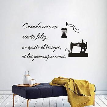 KIVIKE Vinilo Decorativo costurera,Tijeras,Hilo,Costura,calcomanía,habitación,salón,Comedor,decoración del hogar ...