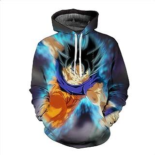 HOOSHIRTA Men 3D Hoodie Sweatshirt Dragon Ball Hoodies Hooded Coat Naruto Super Saiyan Blue egeta Printed