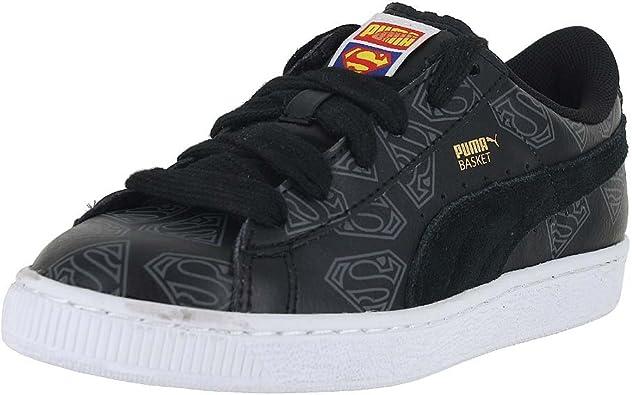 PUMA Boys Basket Superman Junior Casual Sneakers,