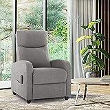 Fabric Massage Recliner Chair Living Room...