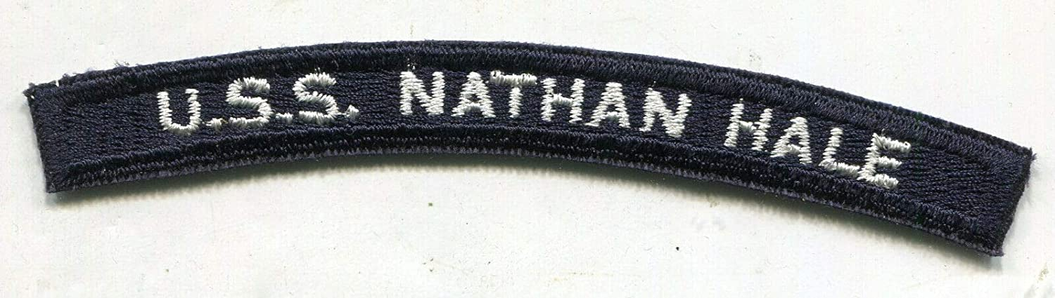 Vintage US Navy USS Nathan HALE Max 54% OFF Cut Submarine Tab Patch b Edge New products, world's highest quality popular!