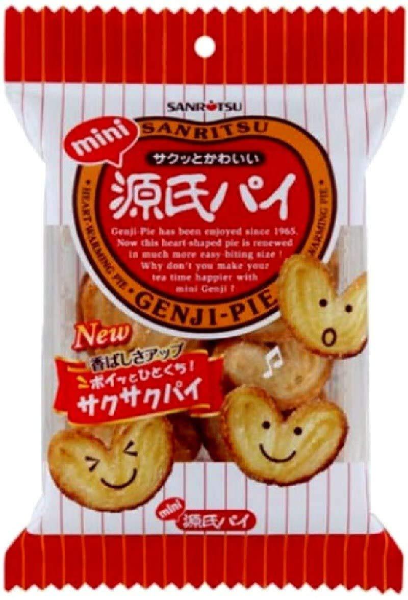 Mini Genji Pie 0.7oz 8pcs Selling rankings Snacks Japanese Ninjapo Portland Mall Sanritsu