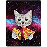 """TSlook Blankets Funny Cat Starry Pizza Eat Beautiful Gorgeous Cozy Plush Throw Blanket (40"""" x 50"""")"""