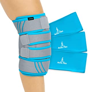Vive Knee Ice Pack Wrap – Cold/Hot Gel Compression Brace – Heat Support Strap..