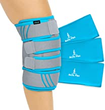 Vive Knee Ice Pack Wrap - Cold / Hot Gel Compression Brace - Heat Support Strap For Arthritis Pain, Tendonitis, ACL, Athle...