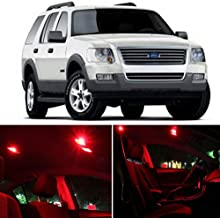 SCITOO LED Interior Lights 10 pcs Red Package Kit Accessories Replacement Fits for 1995-2001 Ford Explorer