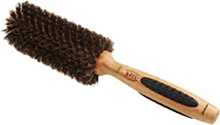 Bass Brushes | P Series | Straighten & Curl Round Hair Brush | Deluxe Length Styling Head | 100% Premium Natural Bristle | Pure Bamboo Handle | Medium Barrel | Model P103