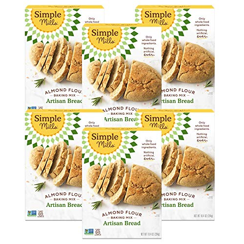 Simple Mills Almond Flour Baking Mix, Gluten Free Artisan Bread Mix, Made with whole foods, 6 Count (Packaging May Vary)