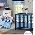 Brandream Crib Bedding Sets for Boys Girls with Bumper Pads 100% Soft Cotton Ideal