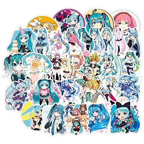 SUNYU Anime Cartoon Waterproof Diy Decal Sticker For Refrigerator Suitcase Stationery Developer Decoration 50Pcs
