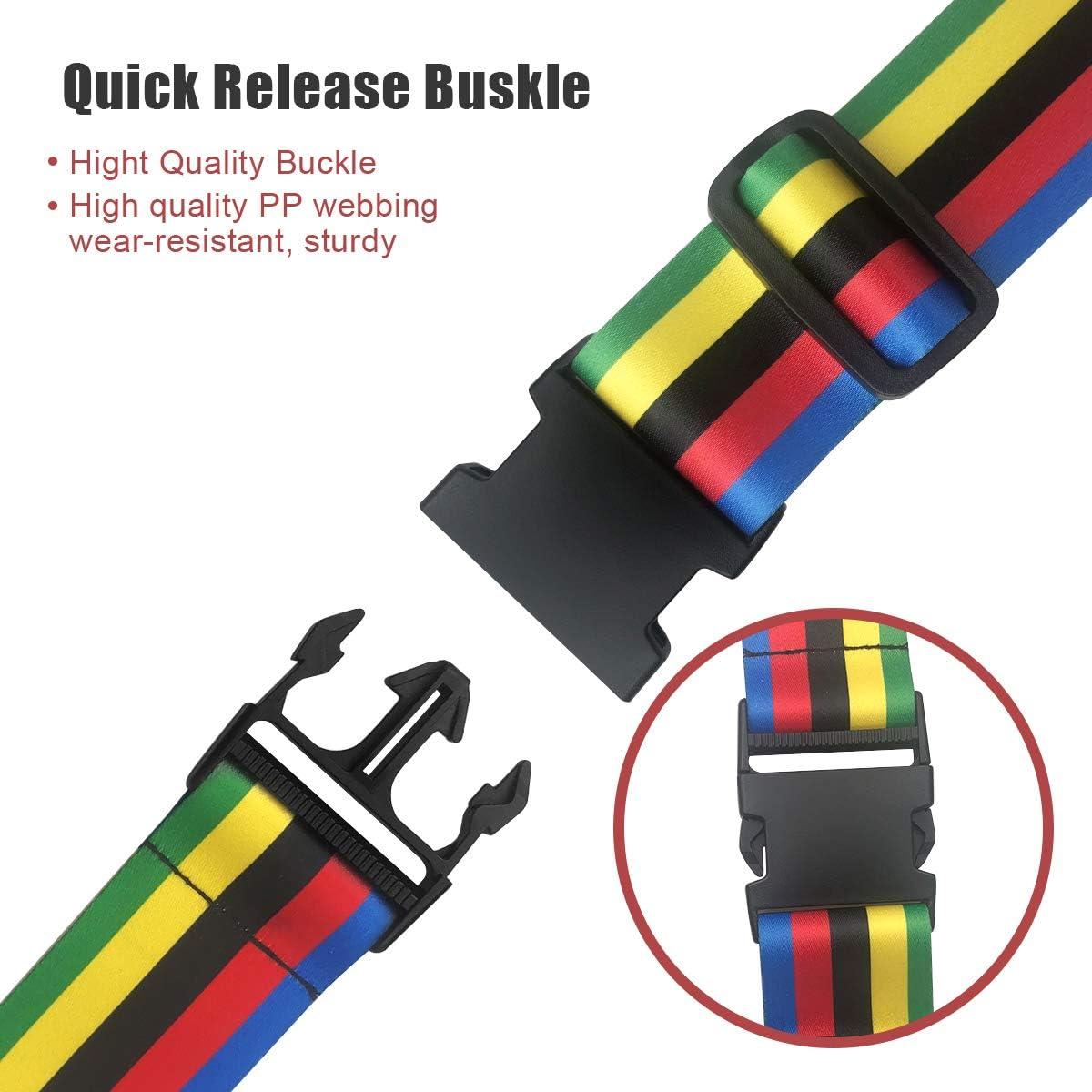 YDY 2 PCS Luggage Straps Suitcase Belts Travel Accessories Bag Straps Adjustable Suitcase Travel Belt Multicolor