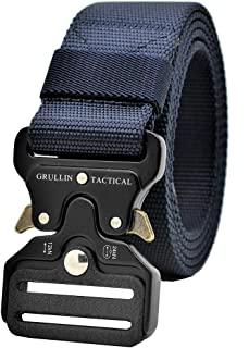 Tactical MOLLE Nylon Belt,Military Style Riggers Web Waist Belt with Heavy Duty Quick Release Metal Buckle for Men