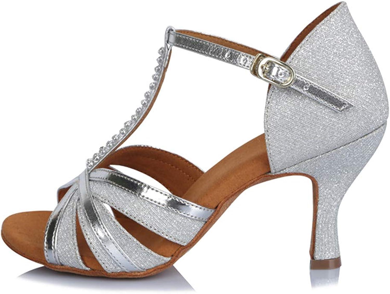 Roymall Women's Sequins Latin Dance shoes Ballroom Salsa Tango Performance shoes,Model AF412