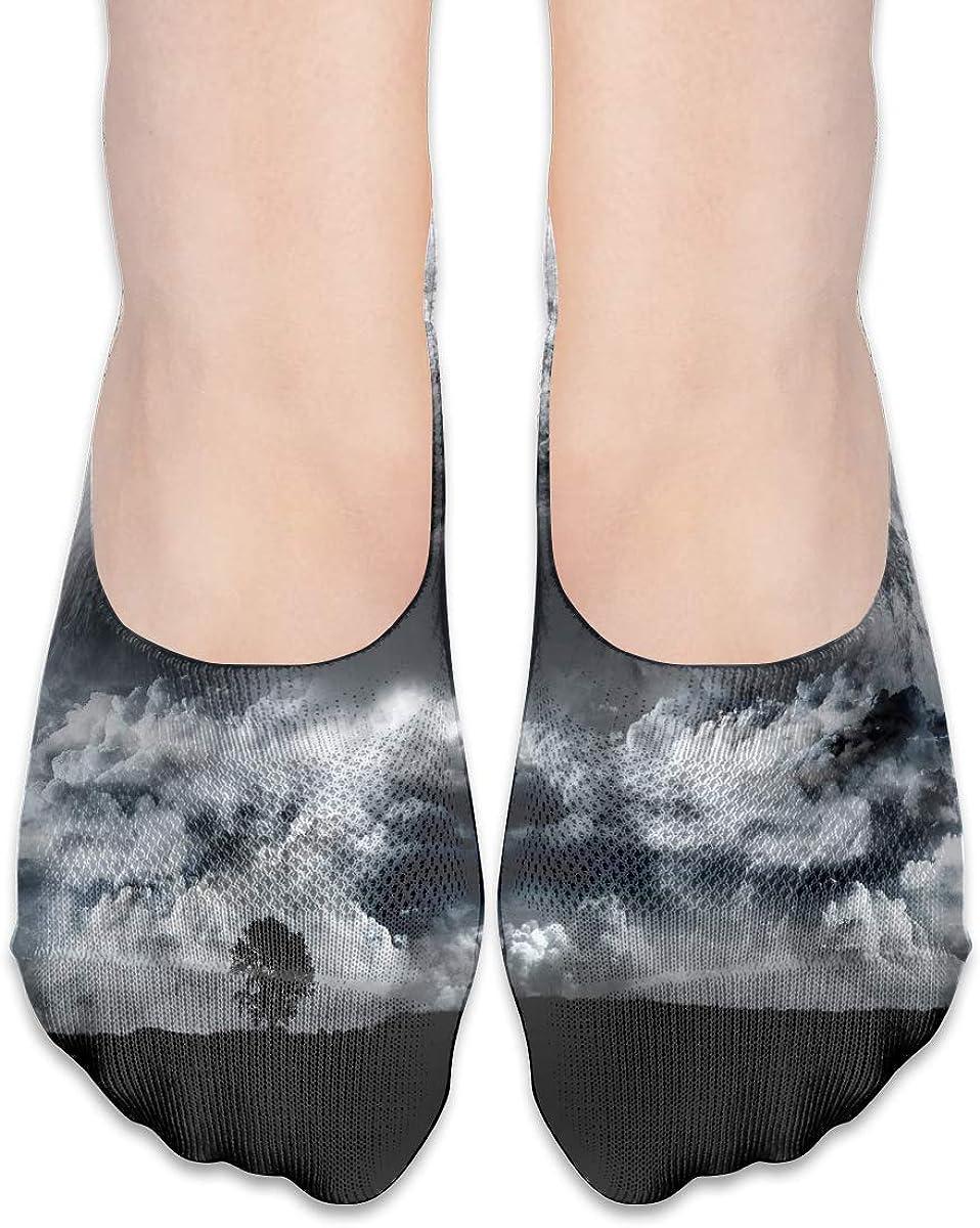 No Show Socks Women Men For Fantasy Cloud Earth Forest Flats Cotton Ultra Low Cut Liner Socks Non Slip