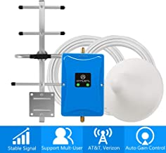 Home 4G Cell Phone Signal Booster for Verizon AT&T T-Mobile - Improve Your LTE Data and Voice by Dual 700MHz Band 12/13/17 Repeater Kit and Ceiling/Yagi Antennas