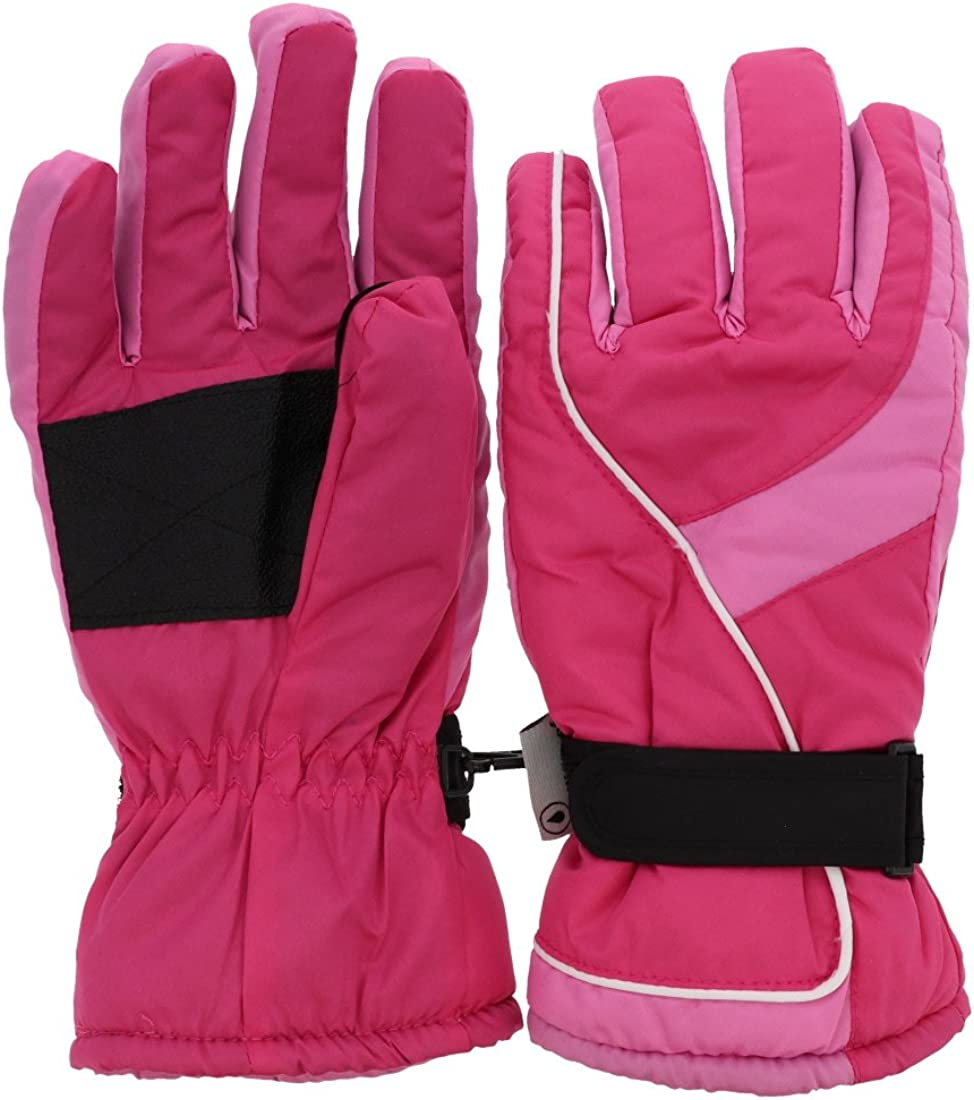 Insulated Curve Design Ski Gloves for Woman