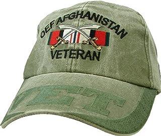 Eagle Crest OEF Afghanistan Veteran Embroidered Hat - Adjustable Closure Cap