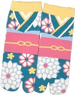 Calcetines de estilo japonés con sandalias con punta dividida Tabi Ninja Geta Calcetines de geisha para mujer, S-16