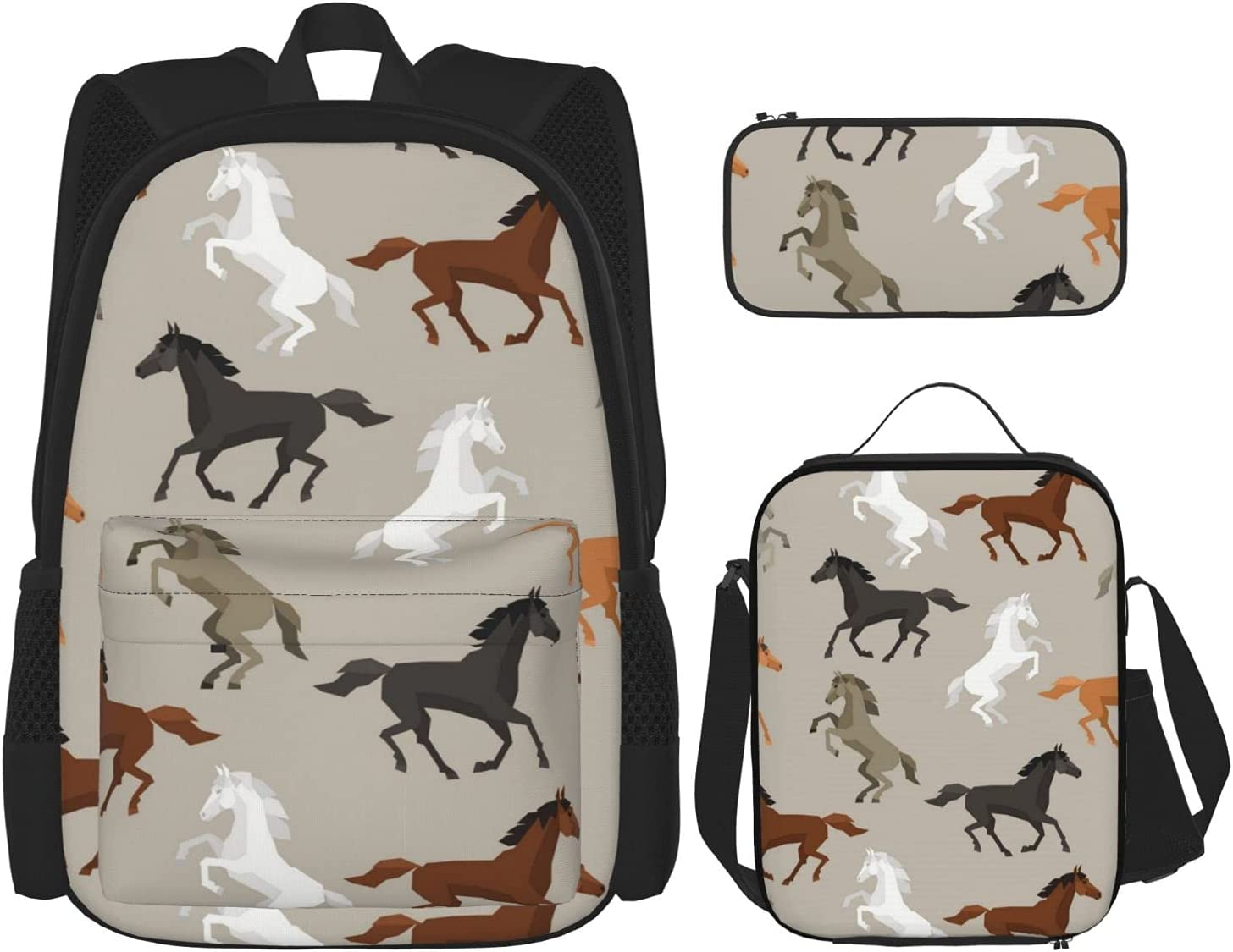 Horses List price Stallions shipfree Equestrian Animals Galloping Backpack Te School