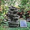 水機能自己完結型機能庭、庭の池、テラス、池、バルコニー用の屋外噴水ロッカリー装飾LEDライト付き太陽光発電ガーデン装飾噴水
