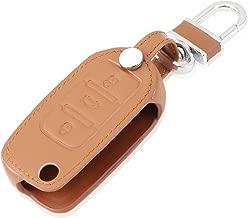 AndyGo Leather Key Cover Case Bag Keyless Fit for Volkswagen Tiguan Vw Jetta Mk6 Golf Polo Passat Cc Bora Skoda Fabia Octavia Superb