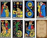 Tarot de Marsella – Juego de 22 hojas – Tarjetas de visión con explicación completa de las 22 tarjetas – Juego de Tarot Divinatorio Marsella