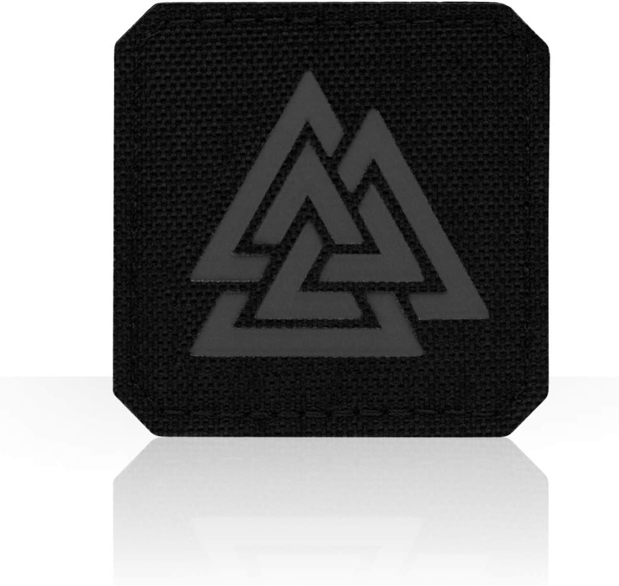 norse viking valknut infrared IR blackout 2x2 tactical laser fastener patch