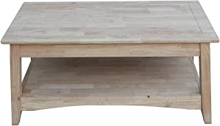 unfinished wood lift top coffee table