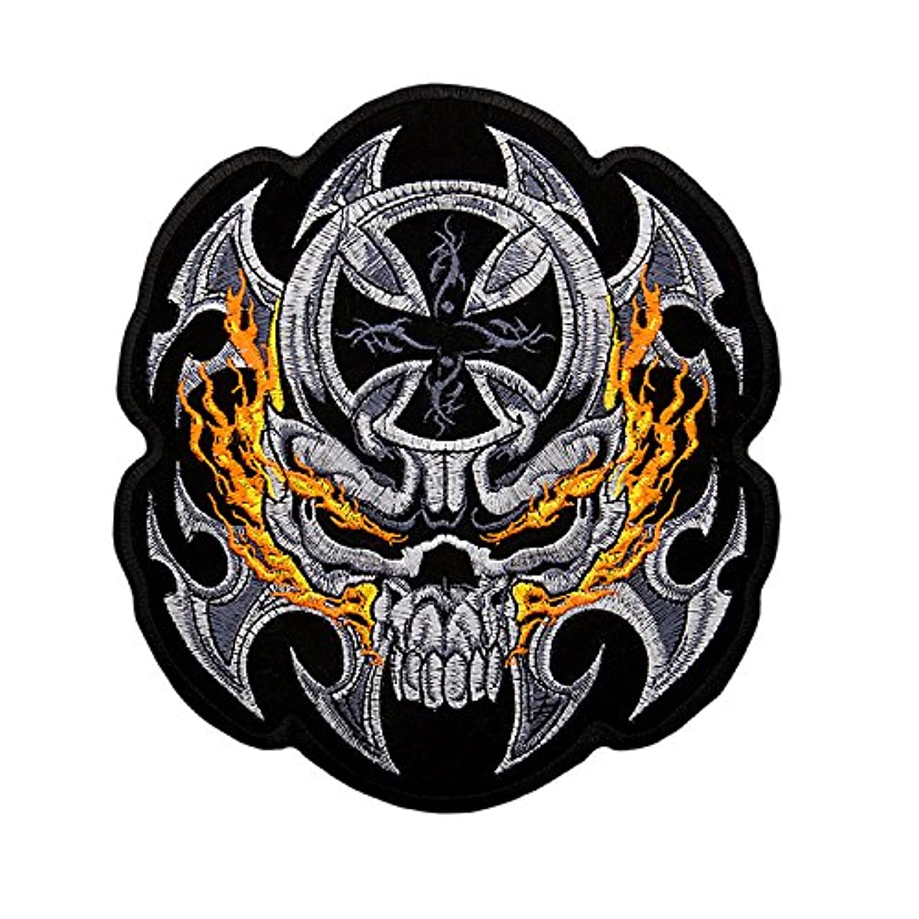 Large Patches, Delicate Embroidered Patches, Skull Embroidery Patches, Iron On Patches, Skull Patch, Punk Patches, Snake Patches, Sew On Applique Patch, Custom Patches for Men, Boys, SUPER COOL! (# 4)