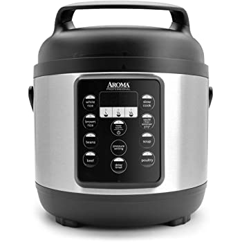 Aroma Housewares Aroma Professional Pressure Cooker, 12-Cup (Cooked), Black