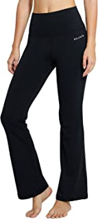 Baleaf Women's High Waist Bootleg Pants Tummy Control Workout Boot-Cut Yoga Pants