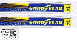 Premium - Windshield Wiper Blade Bundle - 3 Items: Driver & Passenger Blades & Reminder Sticker fits 1987-1995 Jeep Wrangler