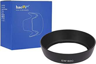 Haoge Bayonet Lens Hood for Canon EF-S 18-55mm f3.5-5.6 is, II and Canon EF 28-80mm f/3.5-5.6 II, II USM, III USM, IV USM, V USM Lens Replaces Canon EW-60C