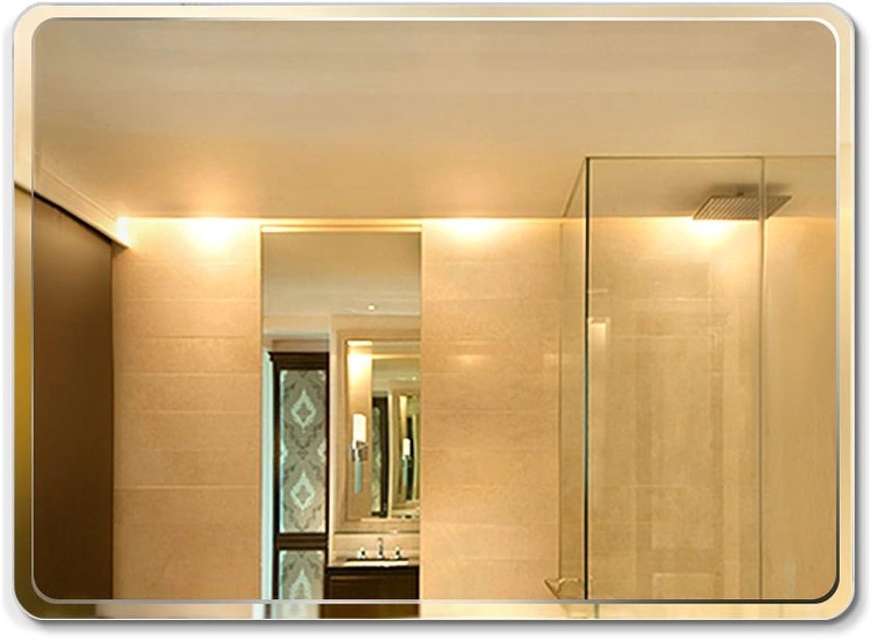 Lxn Wall-Mounted Frameless Bathroom Mirror Dressing Table Vanity Decorative Mirror (Size   45  60cm)
