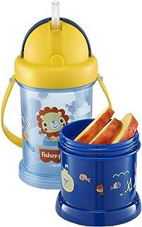 Copo Com Porta Snack Playfyl Azul Summer Sky Fisher-Price - BB1012, Fischer Price, Azul Summer Sky