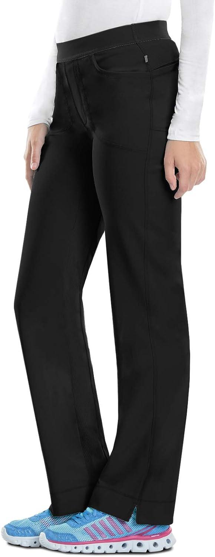 Cherokee Women's Size Infinity Low-Rise Slim Pull-on Pant, Black