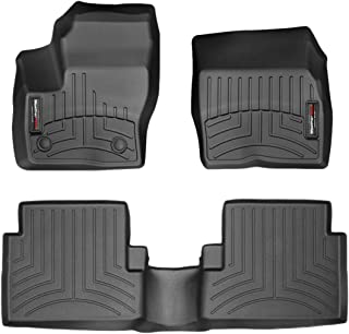 WeahterTech Custom FloorLiner for 2015-2019 Ford Escape - 1st & 2nd Row (Black)