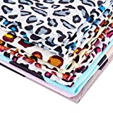 FINGERINSPIRE 12 piezas de tela de estampado de leopardo cuadrado precortado Cheetah Animal Print Tela de algodón (50 x 50 cm) para acolchar tela de costura, material de algodón para manualidades