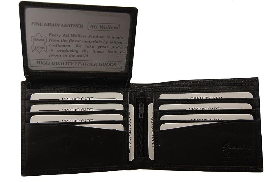 抽象化ゴールド海嶺ブラックウォレットメンズ二つ折りフリップアップIDカードケースレザーパスケース付きギフトボックスに