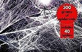 THE TWIDDLERS 300g Telarañas Realistas Extra Grandes con 40 Arañas| ¡Súper Estirable, Súper Aterrador y Súper Divertido! Resistente y Fácil de Usar| Decoración Adornos Fiesta Halloween.