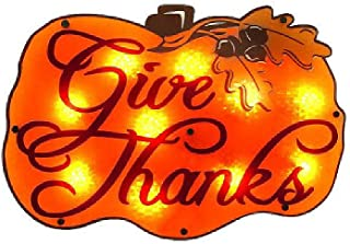 Impact Innovations Pumpkin Decor Give Thanks Shimmer Clear(16 1/2