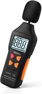 اندازه گیری TACKLIFE دسی بل ، محدوده اندازه گیری دیجیتال سطح صدا 30-130dBA ، داده حداکثر / حداقل / نگه داشتن ، حالت سریع / کند ، نمایشگر چراغ قوه LCD / چراغ قوه (باتری 9 ولت شامل) - MLM02