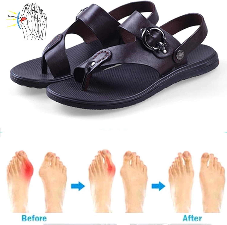 WAMK Herren Sandalen Sommer Strand Flip Flops Flops Echtes Leder Big Toe Korrektur Sandale Bequeme Freizeitschuhe  Großhandel
