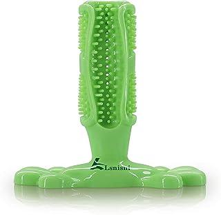 Lsnisni 犬歯ブラシ 犬用歯ブラシ ペット用歯ブラシ 人気 お勧め 犬用歯磨きおもちゃ 小型犬歯ブラシハミガキ 棒 ペット用歯磨き石取り360度 食品用 天然のラバー素材 (M 緑 グリーン)