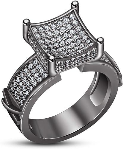 Mercancía de alta calidad y servicio conveniente y honesto. Lujo de moda Vorra corte rojoondo blanco CZ anillo anillo anillo de aniversario de la mujer real 925plata de ley  Ahorre 35% - 70% de descuento