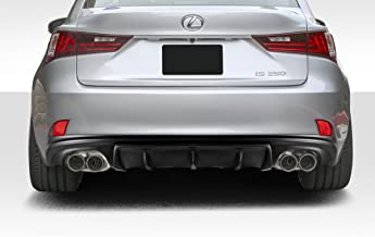 Extreme Dimensions Duraflex Replacement for 2014-2016 Lexus is Series IS350 IS250 AM Design Style Rear Diffuser - 1 Piece (F Sport Models only)