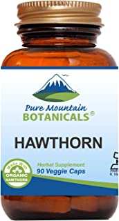 Hawthorn Berry Capsules - 90 Kosher Vegan Caps with 1000mg Organic Hawthorne Berry