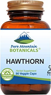 Hawthorn Berry Capsules - 90 Kosher Vegan Caps with 1000mg Organic Hawthorne Berry