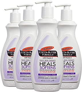 Palmer's Cocoa Butter Formula Body Lotion, Fragrance Free, 13.5 oz. (Pack of 4)